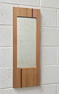 WatsonFlexen, Oak mirror, rust glass ins