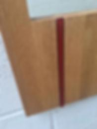 WatsonFlexen, Oak mirror, rust glass ins