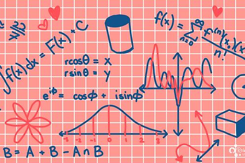 Reinvented Math Zoom Background