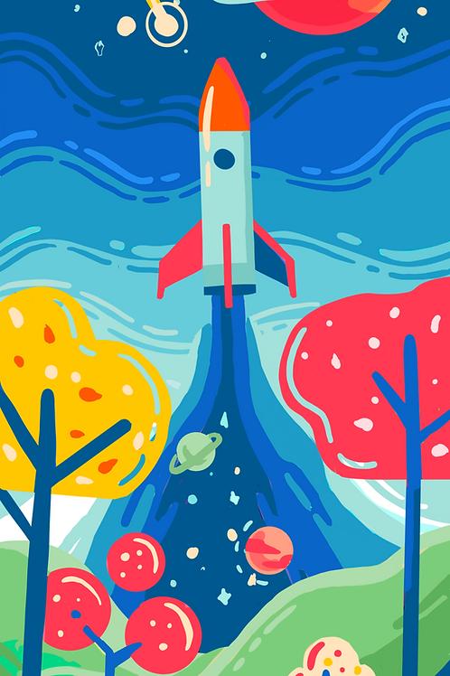Lock Screen Background 2 - Spaceship