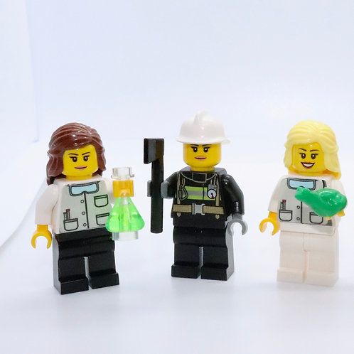 Womxn in STEM Minifigures: Set of Three (3)