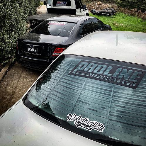 The Classy AF Matte Black Proline Rear Window Sticker