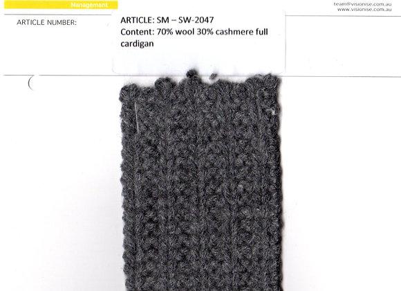 70% wool 30% cashmere full cardigan