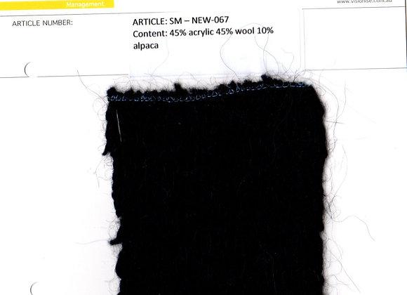 45% acrylic 45% wool 10% alpaca