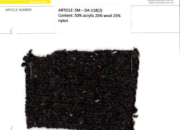 50% acrylic 25% wool 25% nylon