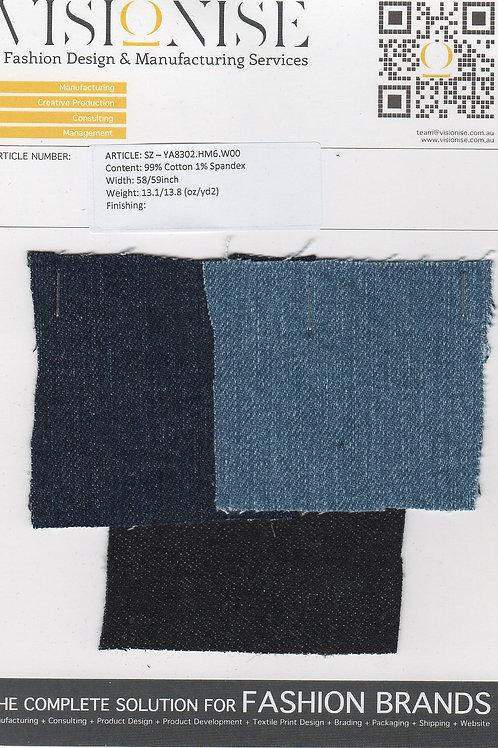 99% Cotton 1% Spandex