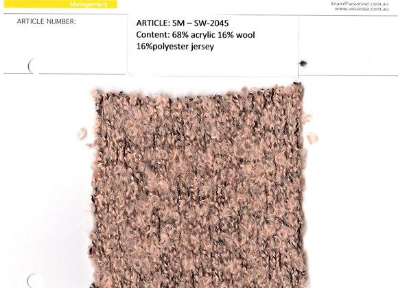 68% acrylic 16% wool 16% polyester jersey;5G