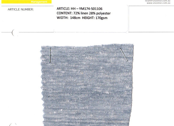 72% linen 28% polyester