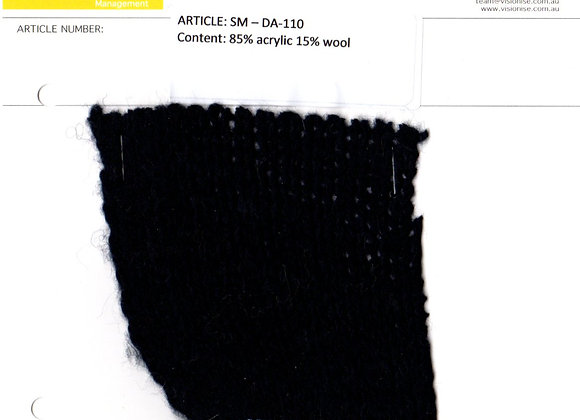 85% acrylic 15% wool