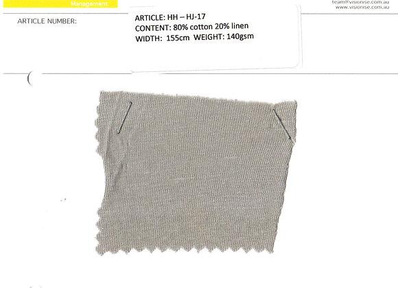 80% cotton 20% linen