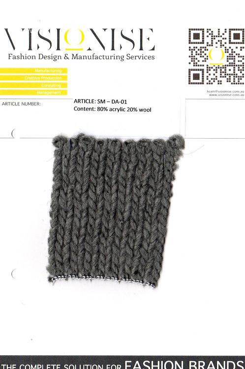 80% acrylic 20% wool