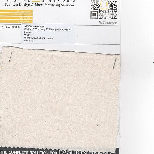 77.5% Hemp 27.5% Organic Cotton 5% Spandex