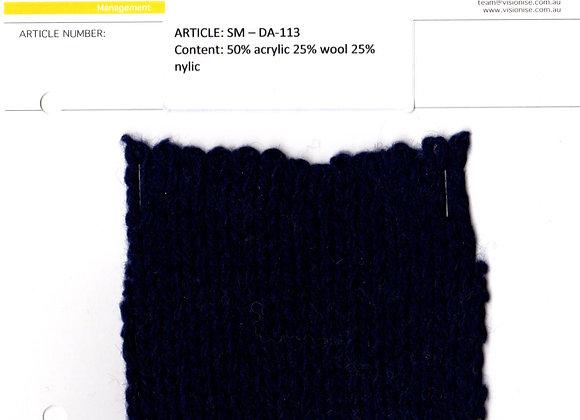 50% acrylic 25% wool 25% nylic