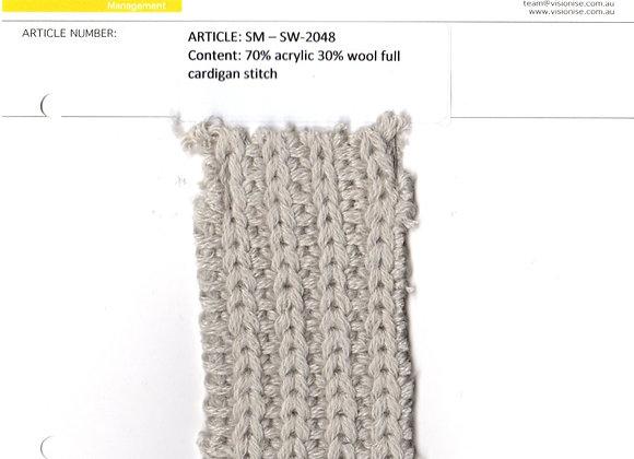 70% acrylic 30% wool full cardigan stitch