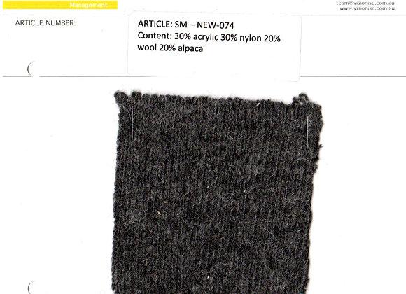 30% acrylic 30% nylon 20% wool 20% alpaca