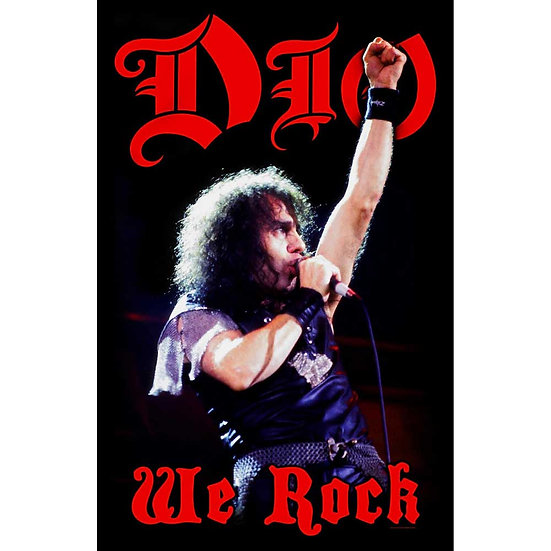 DIO FABRIC TEXTILE POSTER - WE ROCK