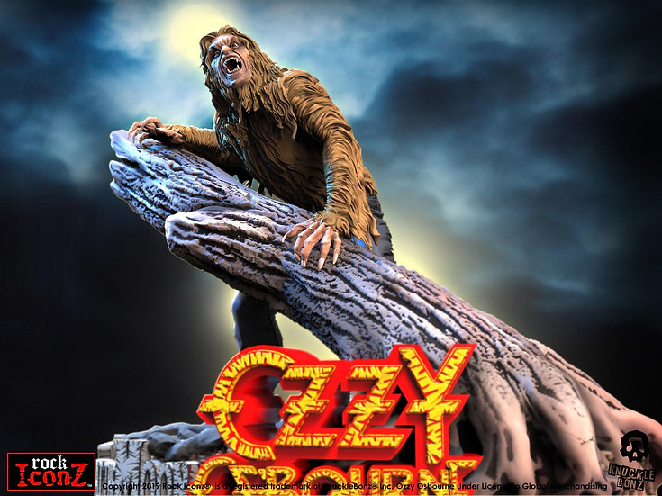 OZZY OSBOURNE BARK AT THE MOON ROCK ICONZ STATUE