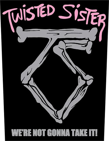 TWISTED SISTER BACK PATCH - BLACK