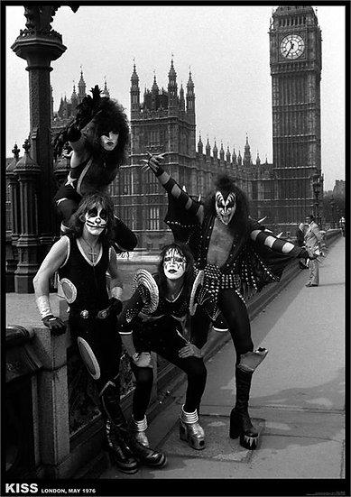 KISS LONDON 1976 POSTER