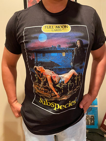 Subspecies Movie Cover T-Shirt Full Moon Features Horror Genre Vampire Radu