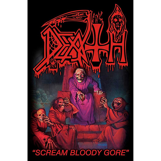 DEATH FABRIC TEXTILE POSTER - SCREAM BLOODY GORE