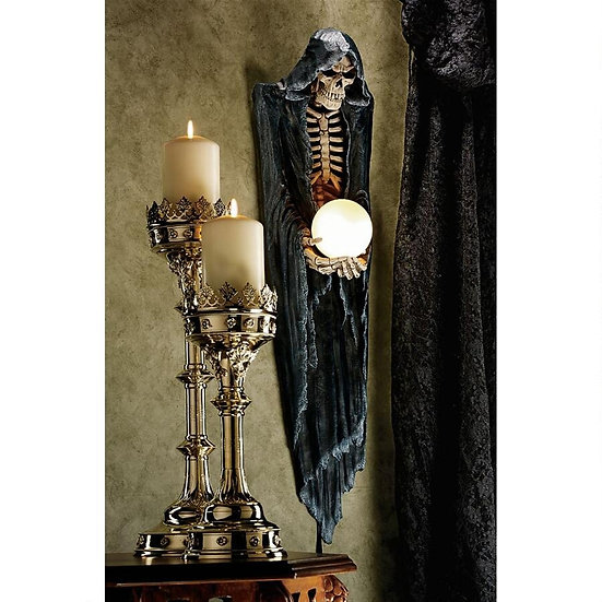 THE SOULS BLACK REAPER ILLUMINATED WALL SCULPTURE