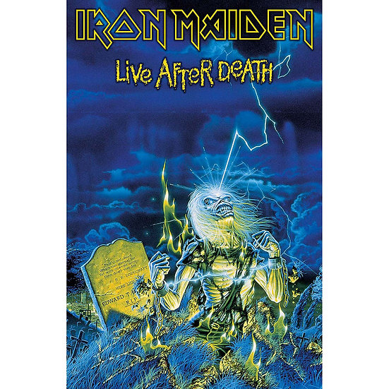 IRON MAIDEN FABRIC TEXTILE POSTER - LIVE AFTER DEATH