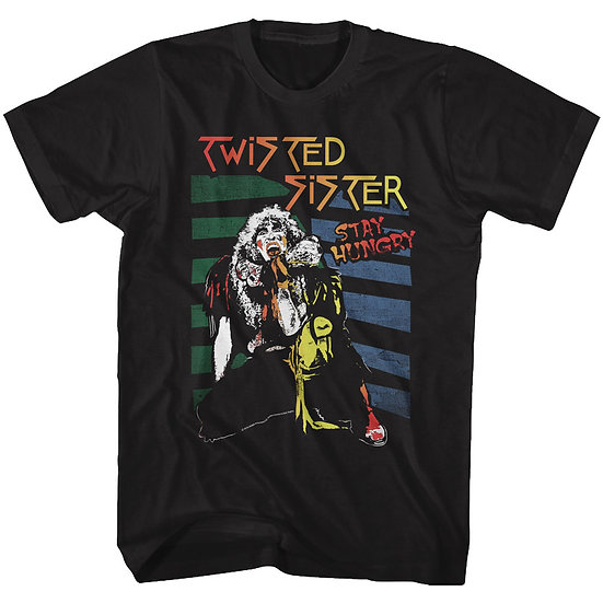 TWISTED SISTER I- STAY HUNGRY ADULT T-SHIRT