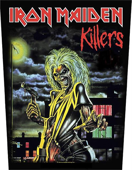 IRON MAIDEN KILLERS BACK PATCH - BLACK