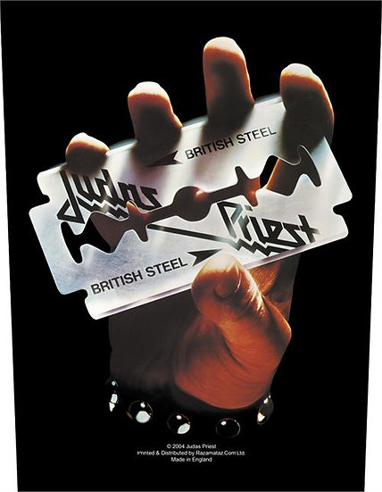 JUDAS PREIST -BRITISH STEEL BACK PATCH