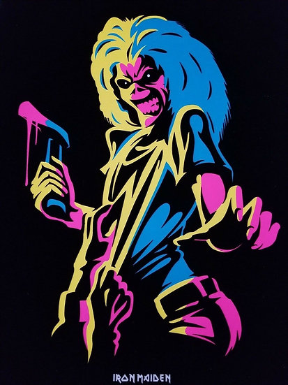IRON MAIDEN KILLERS BLACK LIGHT POSTER