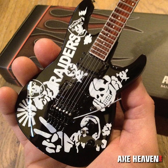JEFF HANNEMAN SLAYER SIGNATURE RAIDERS TRIBUTE MINI GUITAR