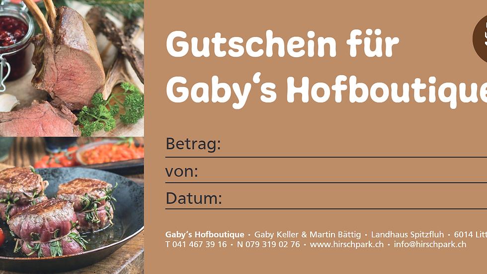 Gutschein Gaby's Hofboutique