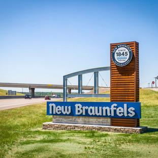 New Braunfels Anniv. Gateway Signs