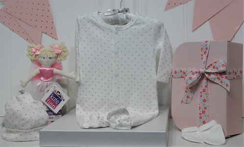 Marquise White with stars and Sparkle doll