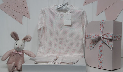Baby Girl Marquise suit with pink dots and bunny