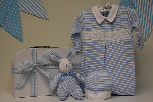 Baby Boy Striped smocked suit