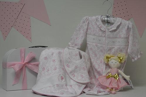 Baby Girl Pink Toile