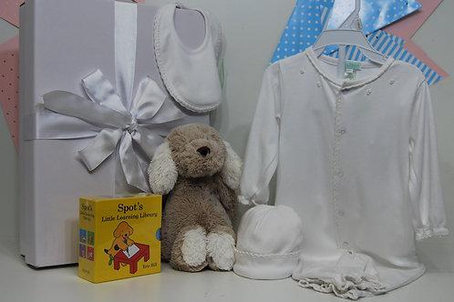 Girl/Boy White Pima Cotton Set
