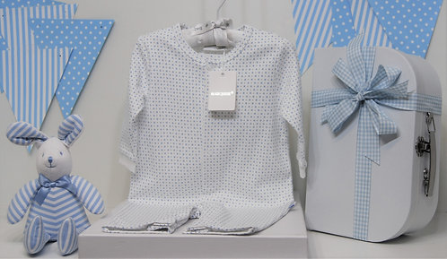 Baby boy Marquise onesie with Bunny.