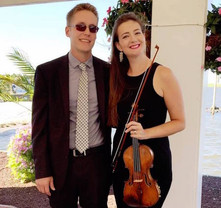 Eric and Liz Aldrich, wedding pianist and violinist