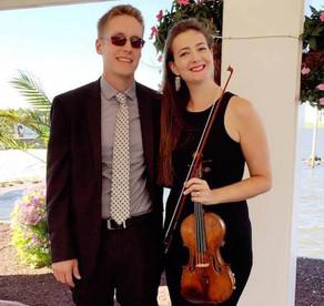 Eric and Liz Aldrich, wedding pianist and violinist