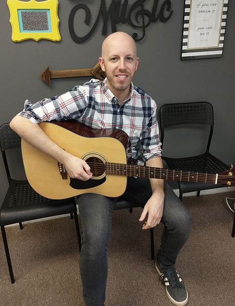 John Szachewicz, guitar teacher for Main Street Music