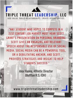 Triple Threat - Testimonial 1