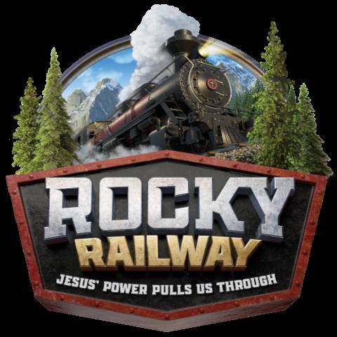Rocky Railway Train Logo