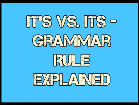 Its vs. it's: spotting misplaced apostrophes