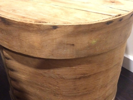 The objects to which I cling: the wooden cheeseboxes
