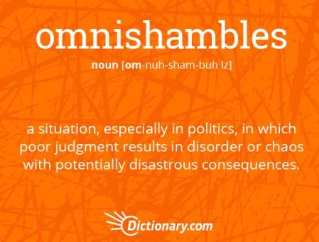 Wordie Wednesday: omnishambles