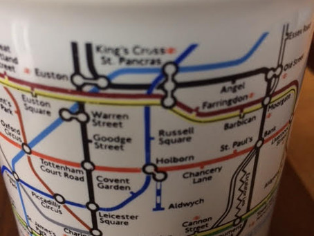 The objects to which I cling: my London Tube mug