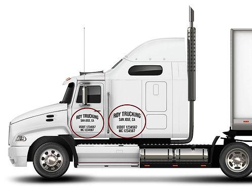 Vehicle DOT#'s Decals